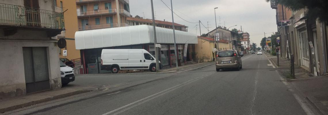Il tratto di via Milano che sarà interessato dal cantiere da lunedì 4 settembre