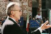 L'intervento del presidente provinciale Anpi Gianni Chiorino