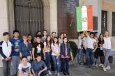 Un gruppo di studenti dell'istituto comprensivo Biella III