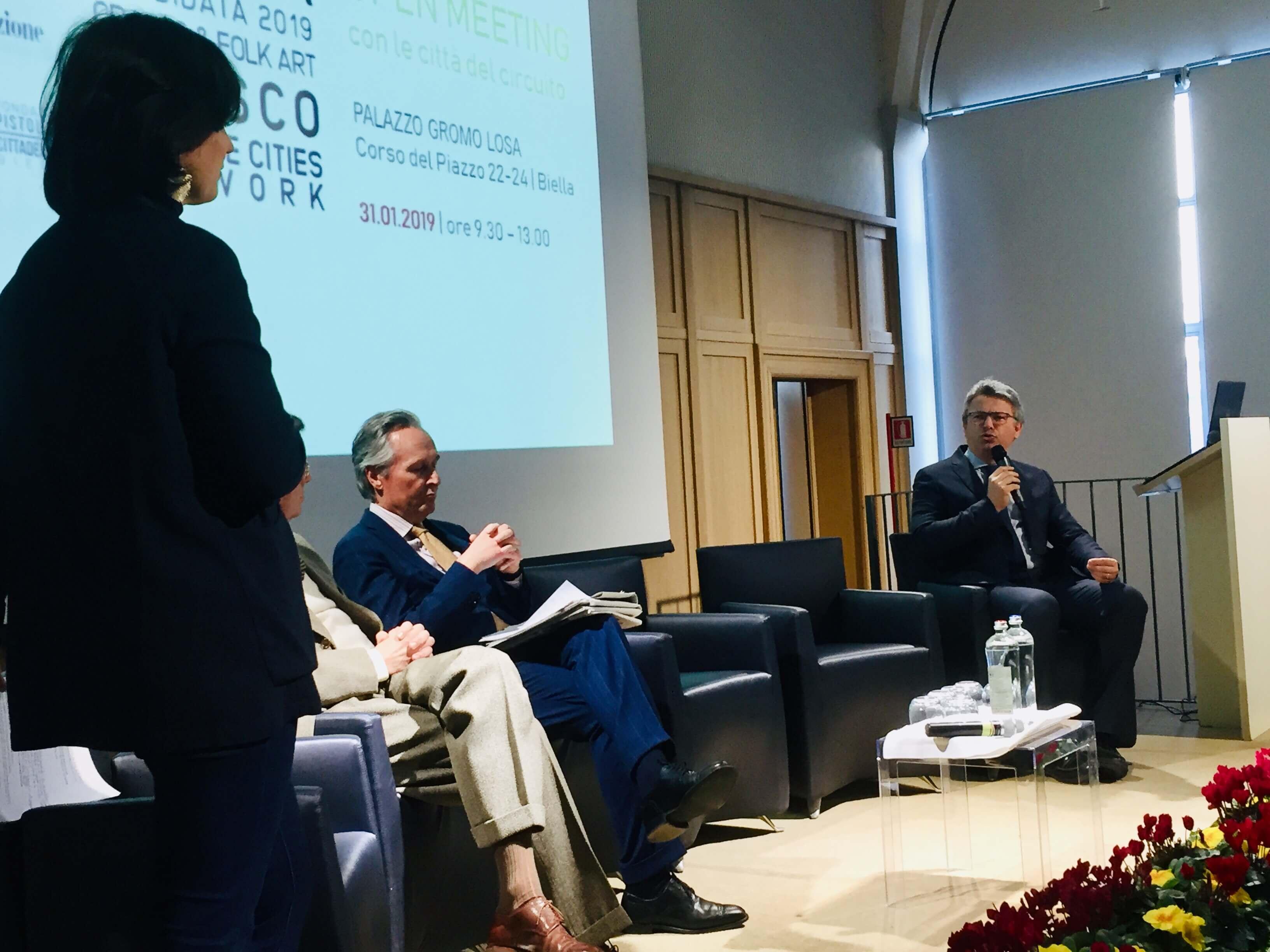 Franco Ferraris e Marco Cavicchioli sul palco di palazzo Gromo Losa